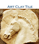 Artistic clay tile