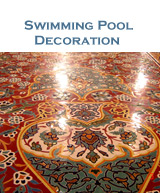 Swimming pool ceramic tile decoration
