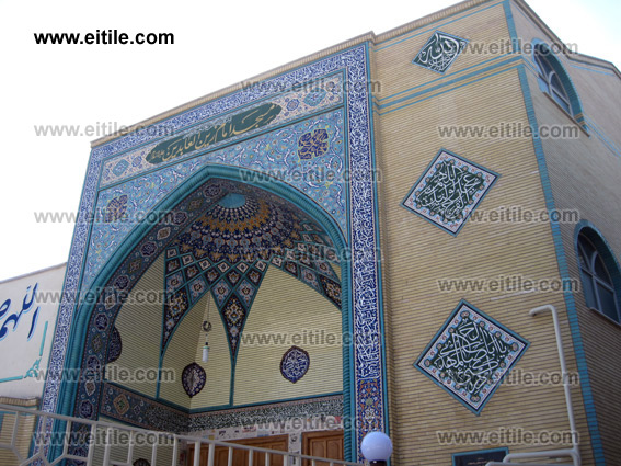 Iran seven color ceramic tile, Iran haftrang ceramic tile, for Mosque, eitile.com