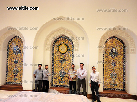 Erfan International Tile Company's Work Group for Moarragh Tile Panel in Oman HM Palace in Nizwa City, www.eitile.com
