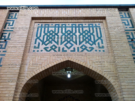 moagheli ceramic tile, mosque decoration, Erfan International Tile Company