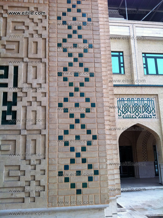 moagheli ceramic tile for mosque decoration, Erfan International Tile Company