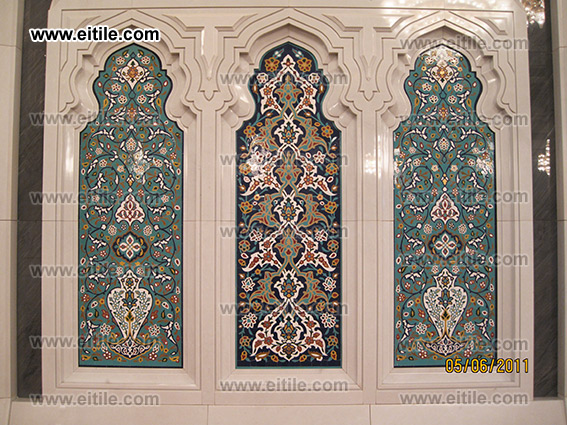 Mosque interior tile decoration, www.eitile.com