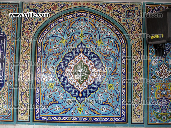 Seven color ceramic tile for mosque decoration, www.eitile.com
