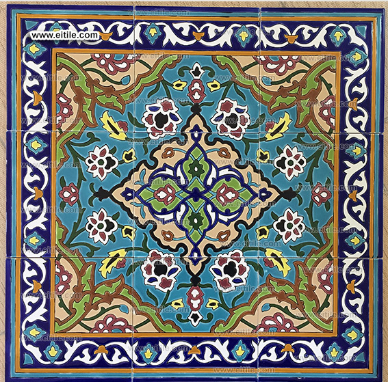 Hand painted tiles from Iran, www.eitile.com