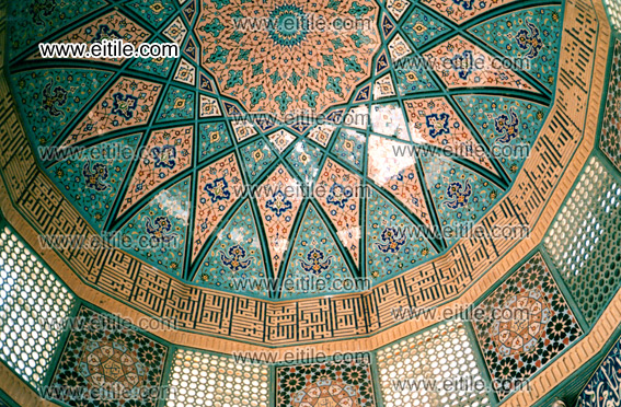 Rasmi Mosaic Tile for Mosque's Dome, www.eitile.com