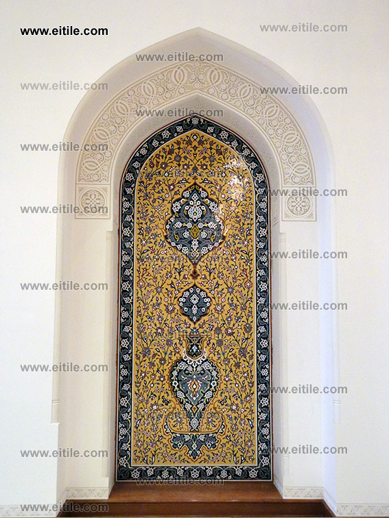 Moarragh Tile Panel in Oman HM Palace in Nizwa City, www.eitile.com